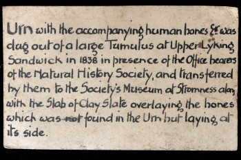 Original label. Image © Stromness Museum.