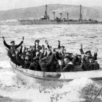 Surrendering German sailors. Orkney Library & Archive.